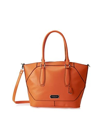 London Fog Women's Avery Shopper Tote Bag, Orange