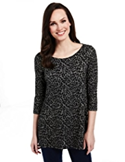 M&S Collection Animal Print Trapeze Tunic