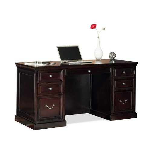 by Martin Furniture Space Saver Double Pedestal Wood Computer Desk