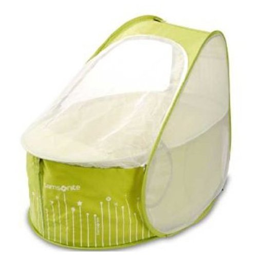 Samsonite - Pop up Travel Cot - Lemon and Lime