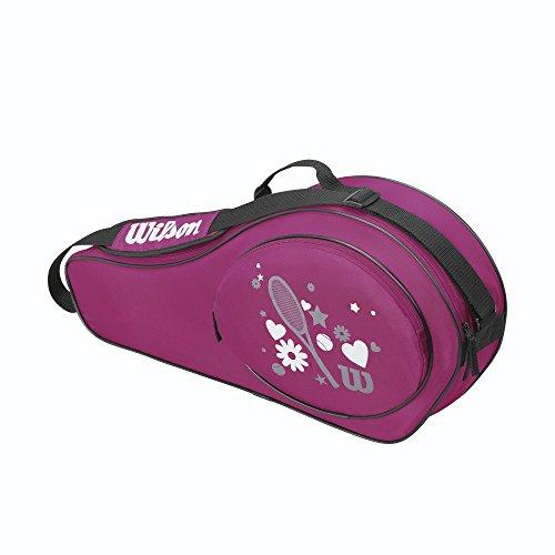 Wilson Schlägertasche Match Junior 3er Racketbag, Pink, 68 x 15.2 x 31 cm, 40 Liter, WRZ644503