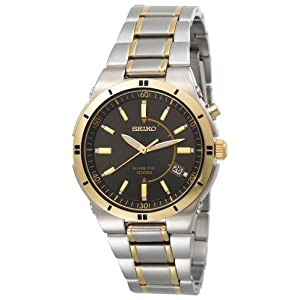 Click to buy Seiko Watches for Men: SKA348 Kinetic Two-Tone Watch from Amazon!
