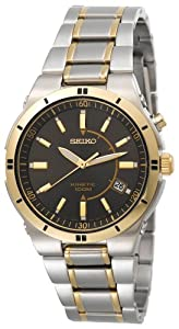 Seiko Men's SKA348 Kinetic Two-Tone Watch