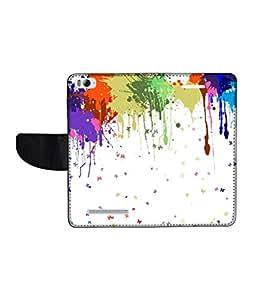 KolorEdge Printed Flip Cover For Xiaomi Mi 4I Multicolor - (1478-50KeMLogo11334XiaomiMI4I)