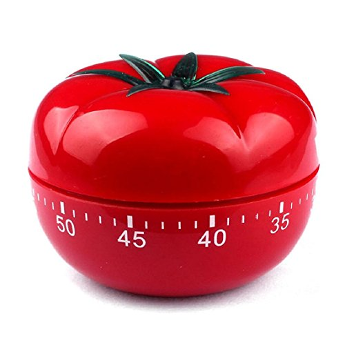 KIMICARE Novelty Loud 60 Minutes Kitchen Timer, Professional Chef Mechanical Tomato Timer Countdown for Cooking Baking Gifts Manual With Alarm Clock For Home Cooking Bbq Outdoor Mechanical Timers, Red (Eggplant Kitchen Timer compare prices)