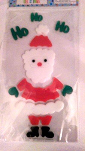 Christmas Reusable Gel Window Clings ~ Santa Claus Ho Ho Ho (13 Clings, 1 Sheet)