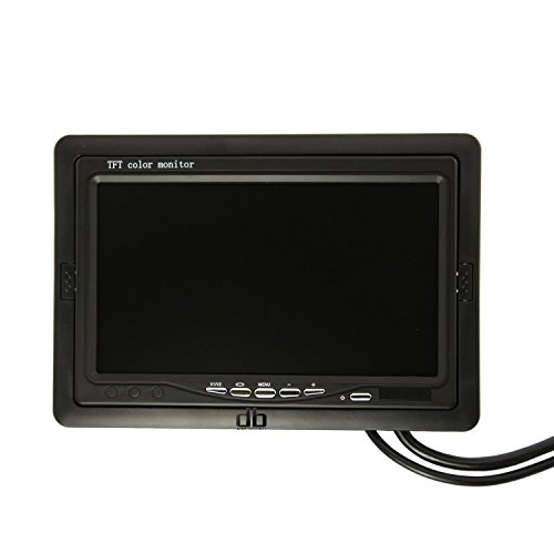 7 Inch Lcd Car Monitor Computer Hd Digital Vga/Av (Support As Computer Screen) 800*480, Support 1024*768,1280 * 1024 Input Source,400 Lumens,350:1 For Back Up Camera