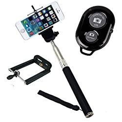Extendable Self Portrait Selfie Handheld Stick Monopod + Wireless Bluetooth Remote Control For Gionee P6