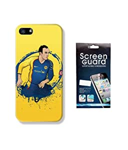 KolorEdge Fifa Back case + Screen Protector for Apple iPhone 5 - Multicolor