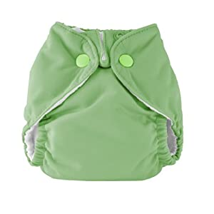 Kissa's Neutral Inside All-In-One Diaper - Super soft with stay-dry fleece inside; Breathable, waterproof and durable PUL outside