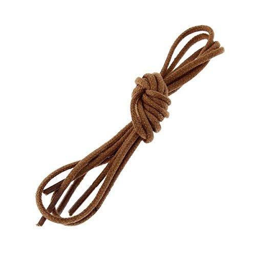 Die Schnürsenkel Französisch-Schnürsenkel rund Baumwolle gewachst Farbe Kupfer, Braun - Braun - braun - Größe: 70