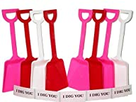 Toy Plastic Shovels Red White & Pink,…