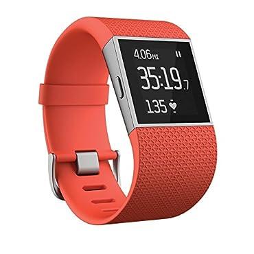 Fitbit Surge Fitness Superwatch, Tangerine, Large (6.3-7.8)