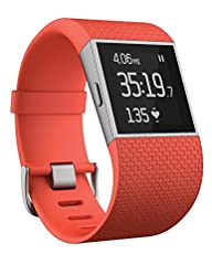 Fitbit Surge, Tangerine, Small