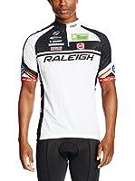 MOA Maillot Ciclismo E13 Raleigh (Blanco / Negro)