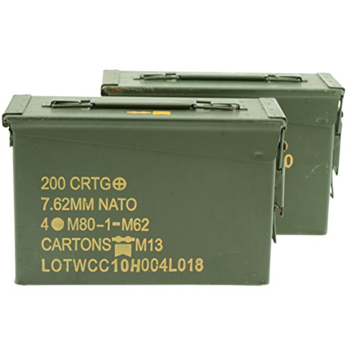 .30 Caliber Ammo Can, Military Surplus, Grade 1 (2 Pack) (Ammo Cans Military compare prices)