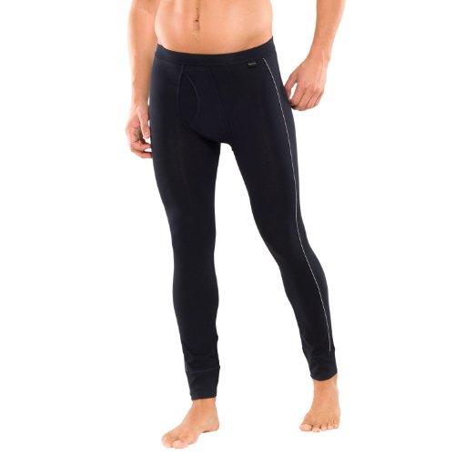 SCHIESSER Herren lange Unterhose, Pant mit Eingriff, Essentials, blauschwarz, 139650, Größe:5 (M)