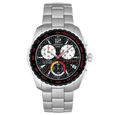 Certina C-Sport Men's Chronograph Steel Bracelet Sapphire Crystal Glass Watch C53671984269 / 536.7198.42.69
