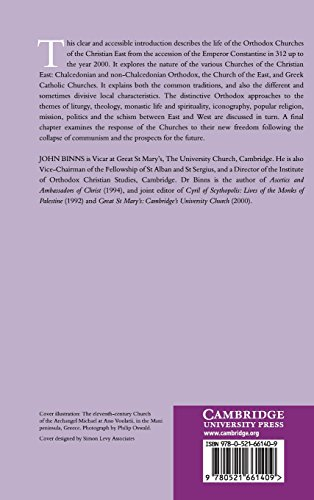 An Introduction to the Christian Orthodox Churches Hardback (Introduction to Religion)
