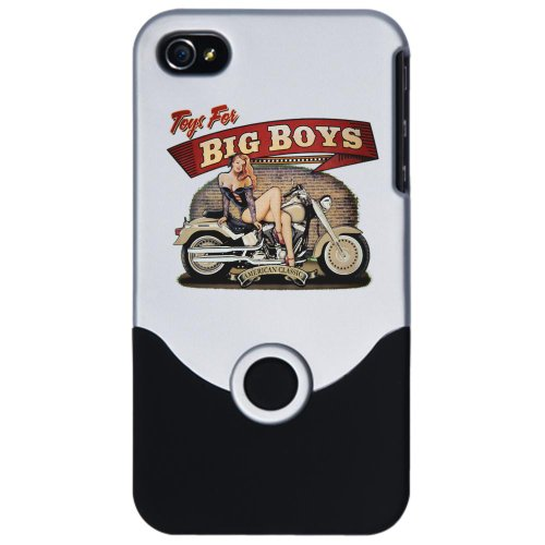 iPhone 4 or 4S Slider Case Silver Toys for Big