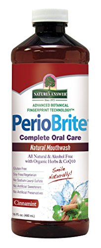 Nature's Answer PerioBrite Alcohol-Free Mouthwash, Cinnamint, 16-Fluid Ounce (Answers From Nature compare prices)