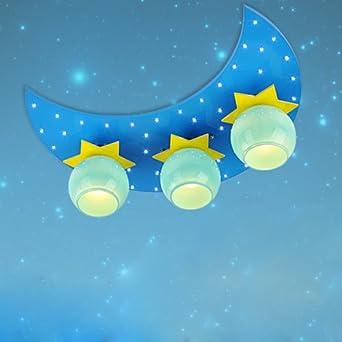 creative 3 lights cartoon moon stars led