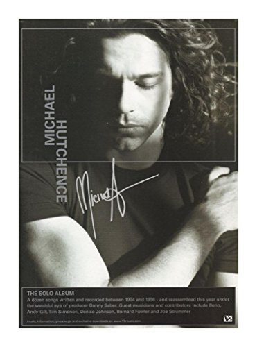 Michael Hutchence Signed Autographed 21cm x 29.7cm A4 Poster Photo
