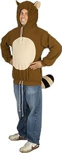 80sTees Men's Racanooki Costume Hoodie - Large
