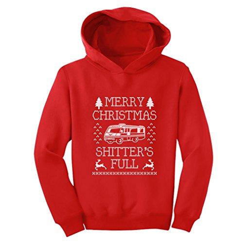 Teestars - Merry Christmas Shitter'S Full Toddler Hoodie 2T Red