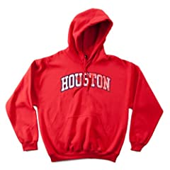 NCAA Houston Cougars 50 50 Blended 8-Ounce Vintage Arch Hooded Sweatshirt, 3X-Large,... by SDI