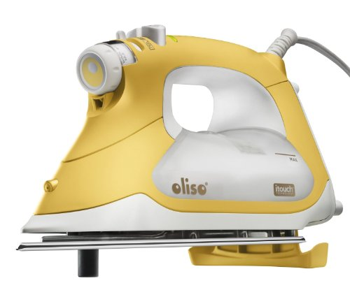 "Oliso Pro TG1600 smart iron with purple Komfort Kut 9""X12"" rotary cutting mat"