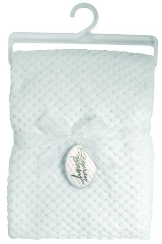 Stephan Baby Ultra Soft Popcorn Fleece Blanket, White