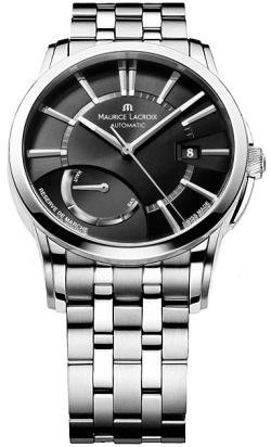 Maurice Lacroix Men's PT6168-SS002331 Pontos Pontos Stainless Steel Black Dial Watch
