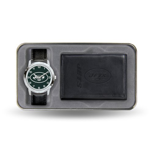 "USA Wholesaler - SPR-WTWAW2201 - New York Jets NFL Men's Watch & Wallet"" Gift Set"" at Amazon.com"