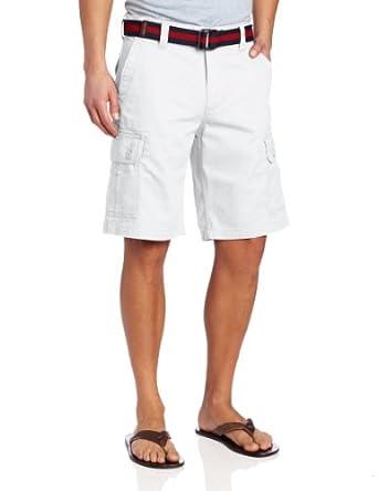U.S. Polo Assn. Men's Twill Cargo Short, White, 30