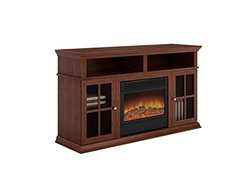 Argo Furniture Alessandro Electric Fireplace, Walnut