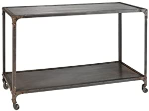 """Industrial Console Table, 31""""H, NATURAL"""