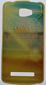 FCS Printed Designer Premium Soft Silicone Back Case Cover for Intex Aqua Lite