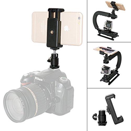 """Fantaseal 1/4 """"Ball obiettivo Testa adattatore Gopro adattatore di montaggio con Mobile clip per Nikon / Canon / Pentax + Xiaomi Yi / Sony X1000VR e fotocamere reflex digitali, videocamere"""