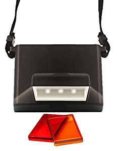 Beam n Read LED 3 Hands-Free Travel & Reading Light; for Kindle, Power Outages & More; Batteries Last 100 Hours; Includes Orange & Red Relaxation Filters
