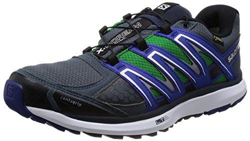 Salomon Uomo Trail Scarpe Running X-Scream GTX - grigio denim/g blu/bianco, 44 2/3