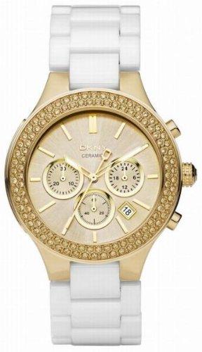 DKNY Ceramic Chronograph Gold-tone Dial Women's watch #NY8260