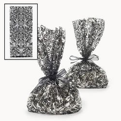 Black & White Wedding Cello Bags (1 dozen) - Bulk [Toy]