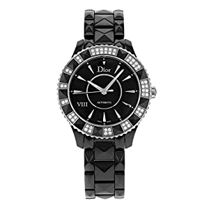 Christian Dior Women's CD1245E1C001 Black Eight Analog Display Swiss Automatic Black Watch