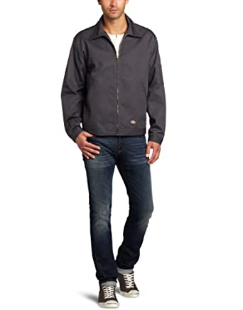 Dickies Men's Unlined Eisenhower Jacket, Charcoal, XX-Large/Regular