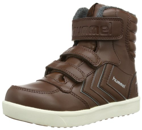 Hummel HUMMEL STADIL SUPER JR LEA HG High Unisex-Child Brown Braun (FRIAR BROWN 0534) Size: 34