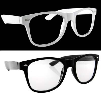 Glasses Frame Black And White : Lot of 2 Nerd Glasses Buddy Holly Wayfarer Black and White ...