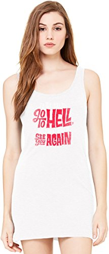 mad men Go To Hell Tunica Smanicata Bella Basic Sleeveless Tunic Tank Dress For Women| 100% Premium Cotton| Medium