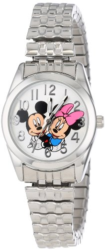 Disney Women's MCK804 Mickey Loves Minnie Silvertone Classic Bracelet Watch