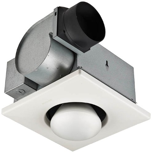 Nutone 9417Dn 70 Cfm 3.5 Sone Ceiling Mounted Hvi Certified Bath Fan With Light, White